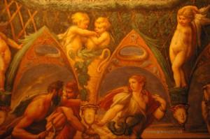 saletta di diana e atteone parmigianino