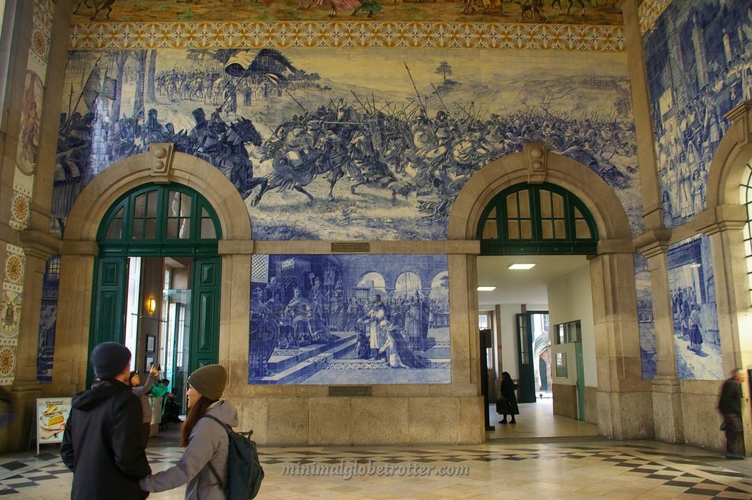Particolare Stazione São Bento a Porto