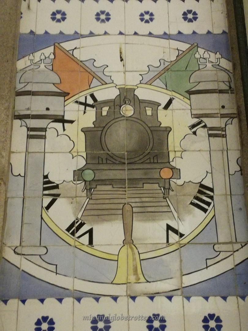 Particolare azulejos della Stazione São Bento che ha ispirato Harry Potter