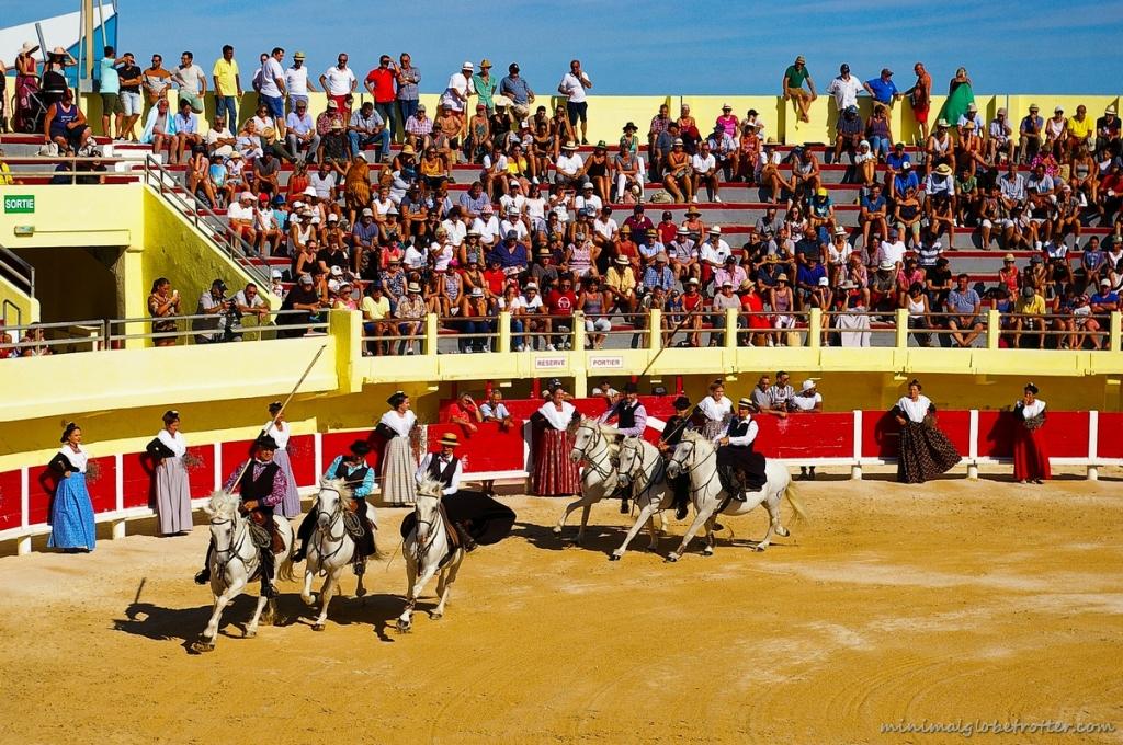 Arena di Saintes Marie de la Mer coreografia a cavallo