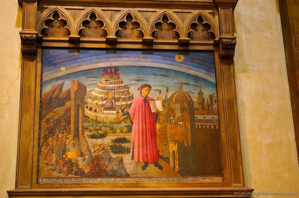 I mondi di Dante dipinto di Domenico di Michelino del 1456 in Santa Maria del Fiore a Firenze